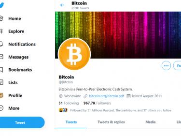 Adresse Twitter Bitcoin