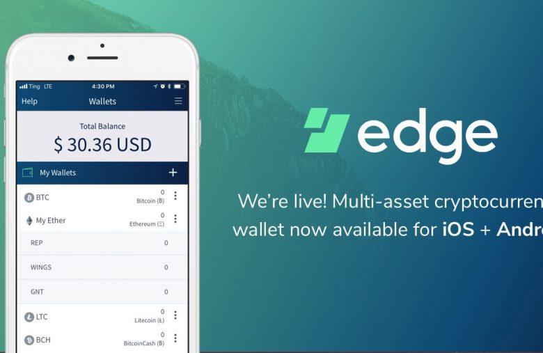 Portefeuille cryptomonnaie mobile Edge