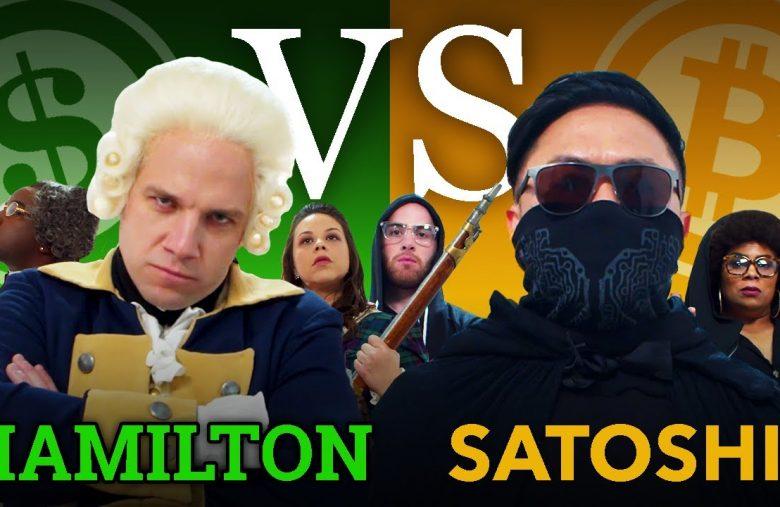 Dollar contre Bitcoin, une vidéo rap humoristique entre Satoshi Nakamoto et Hamilton