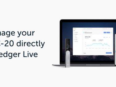 L'application Ledger Live prend désormais en charge les jetons ERC-20