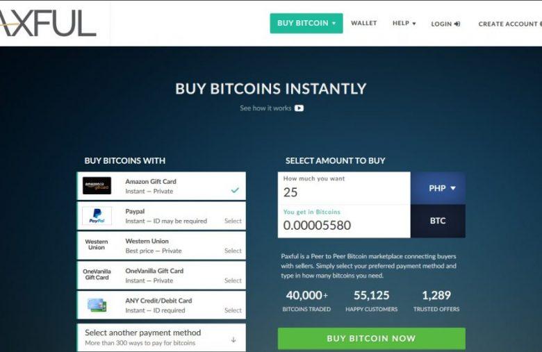 acheter bitcoin avec paypal sur paxful