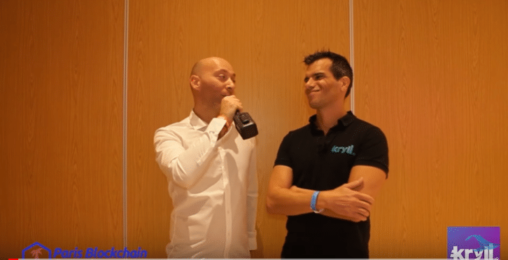 Interview de Kryll par le Youtuber Français Whale Tamer lors du Paris Blockchain Summit 2019