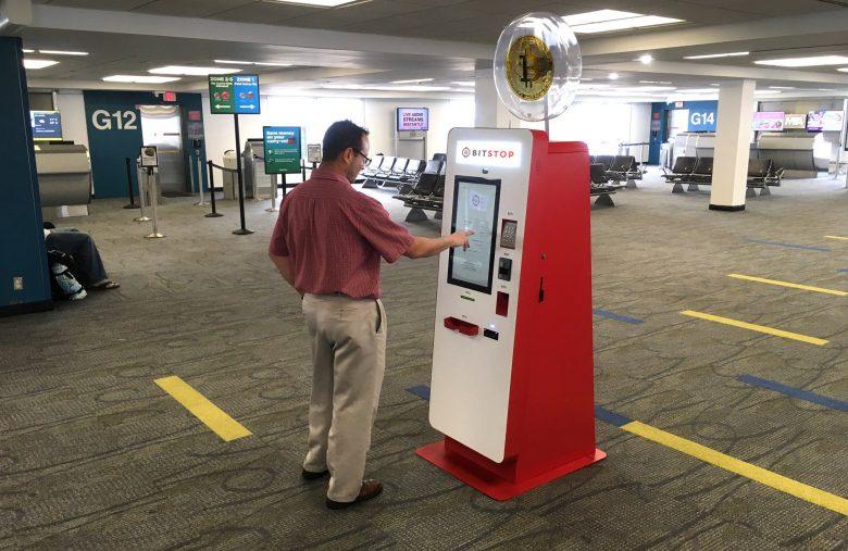 Un distributeur automatique de Bitcoin BTC à l