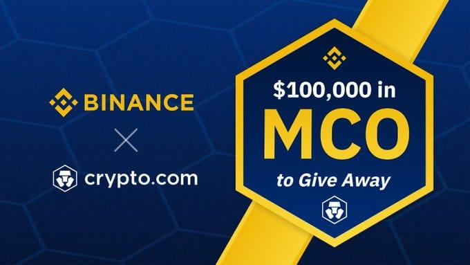 100 000 dollars en jetons MCO à gagner sur Binance pour célébrer le listing de MCO USDT