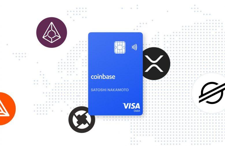 La carte bancaire crypto Coinbase permet désormais de dépenser BAT, XLM, XRP, ZRX et REP