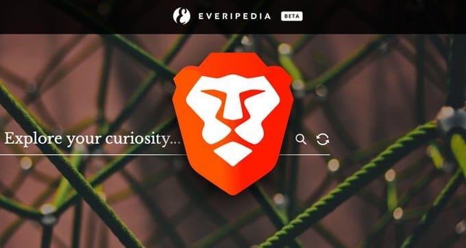 Le navigateur web Brave et Everipedia s