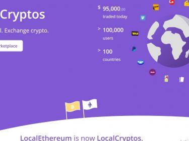 LocalEthereum passe au trading Bitcoin et s'appelle désormais LocalCryptos