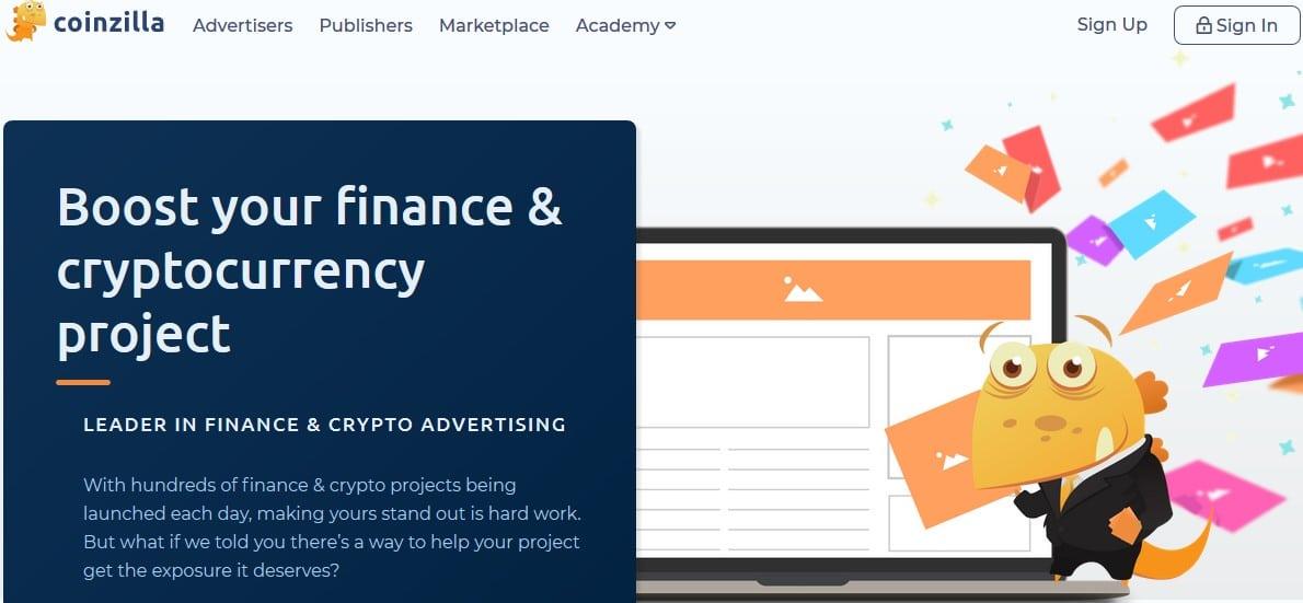 coinzilla régie publicitaire crypto et finance