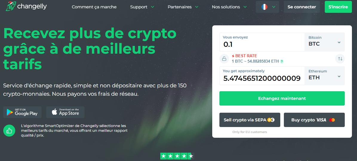 Acheter du bitcoin sur Changelly