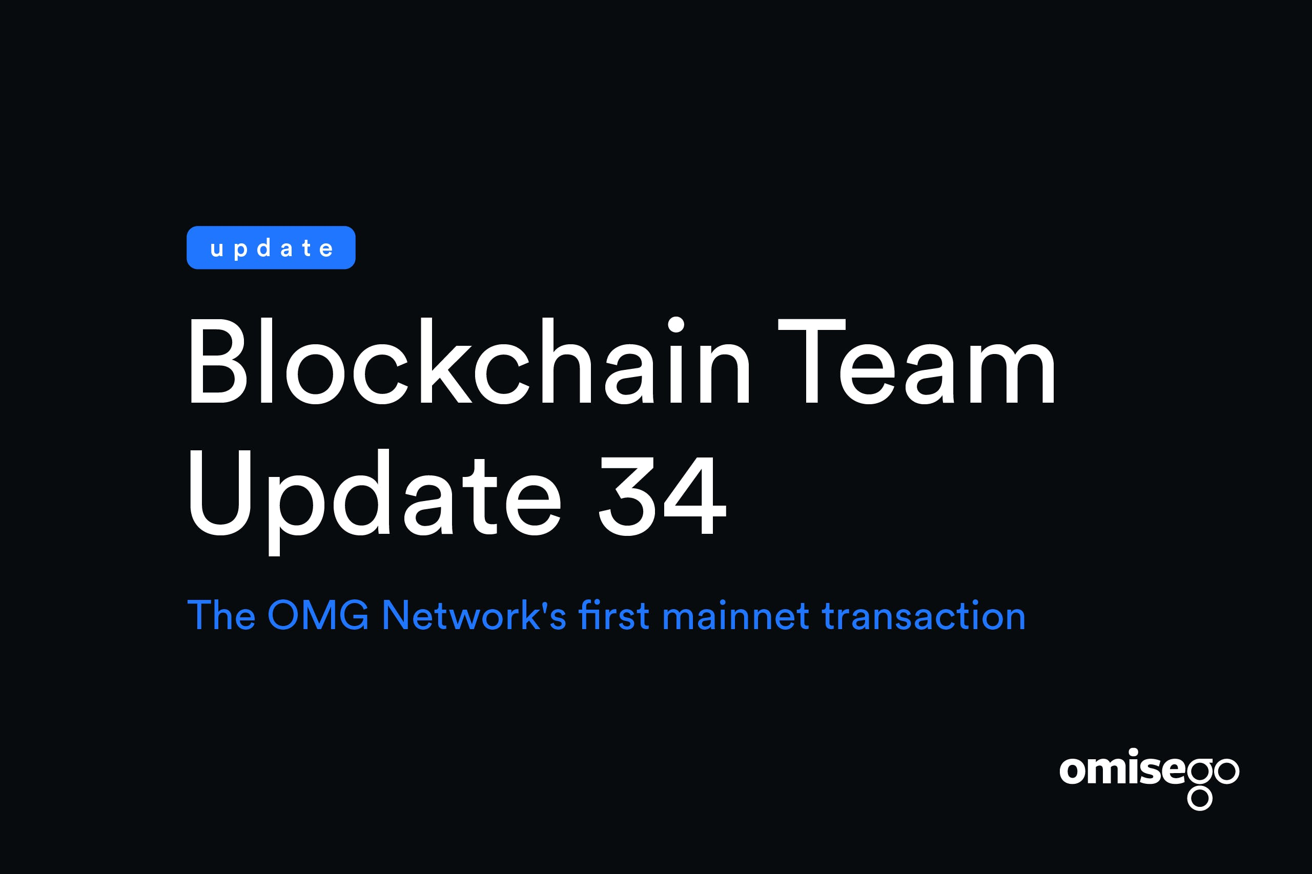 Après 34 mois de développement, Omisego a effectué sa première transaction sur mainnet