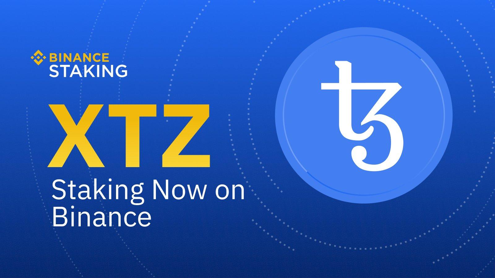 Binance ajoute le staking de la cryptomonnaie Tezos XTZ à sa plateforme de staking
