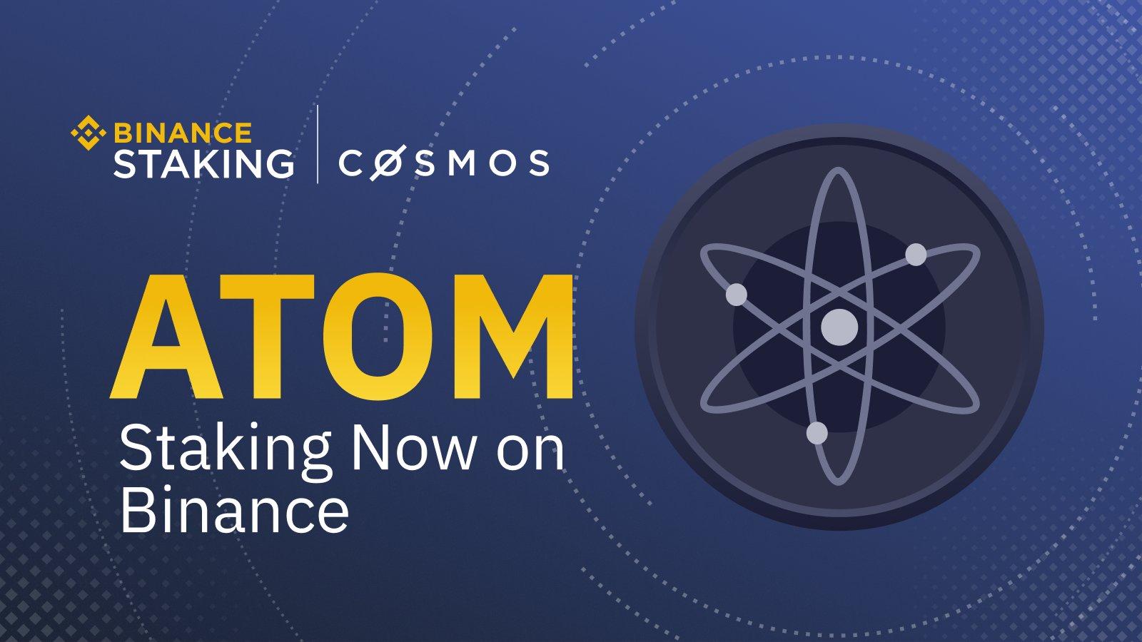 Binance va ajouter le staking de la cryptomonnaie COSMOS (ATOM) le 5 décembre 2019