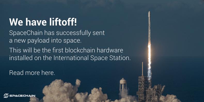 SpaceChain a envoyé un portefeuille blockchain à la Station spatiale internationale dans une fusée Falcon 9