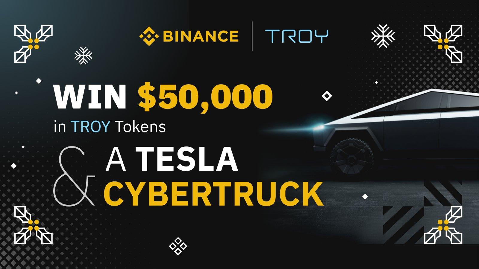 Un Cybertruck Tesla à gagner pour noël sur Binance