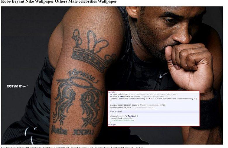 Des hackers cachent du minage pirate de Monero dans une photo de Kobe Bryant