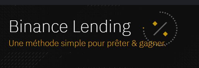 Gagner de l'argent avec binance lending