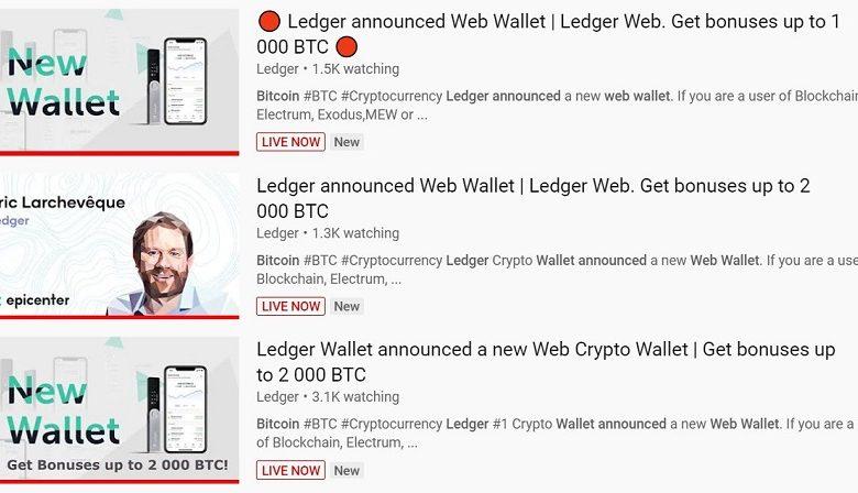 Ledger alerte ses clients sur des attaques phishing via des chaînes Youtube piratées