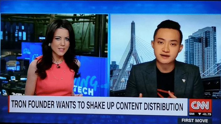 Après le PDG de Ripple XRP, CNN interview Justin Sun de Tron