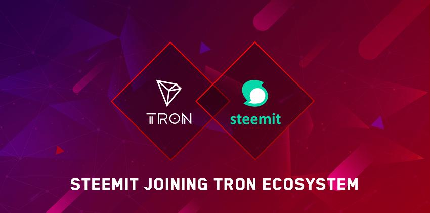 La plateforme de blog Steemit et son jeton Steem rejoignent la blockchain Tron