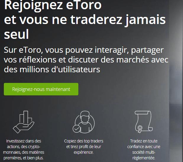 copy trading et trading social etoro
