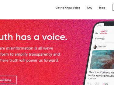 Lancement de la version Beta du réseau social décentralisé Voice.com