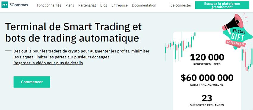 3commas et ses bots crypto sont désormais disponibles en Français