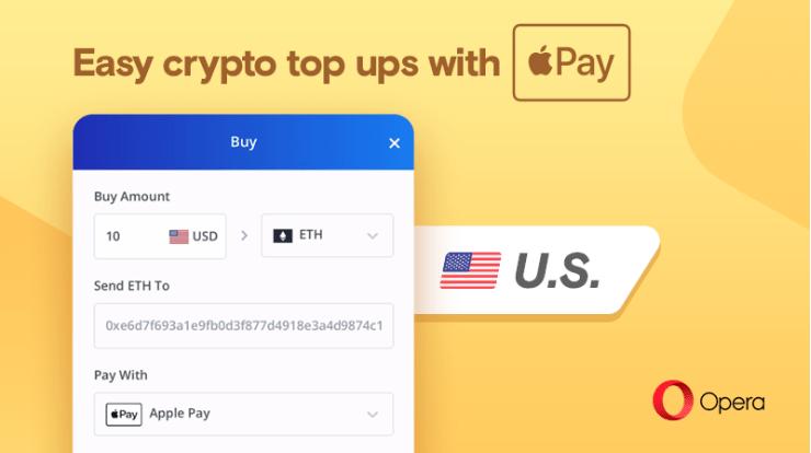 Acheter du Bitcoin avec Apple Pay sur le navigateur web Opera