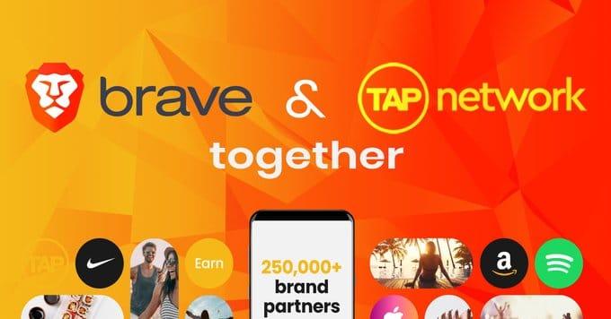 Partenariat entre Brave et Tap Network pour dépenser ses jetons BAT sur Amazon, Apple ou Uber