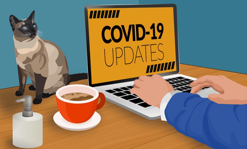 Télétravail et Coronavirus Covid19, rester à la maison et gagner de l'argent pendant le confinement
