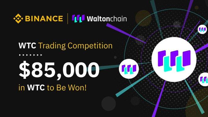 Concours de Trading Waltonchain (WTC) sur Binance avec 85 000 dollars à gagner !