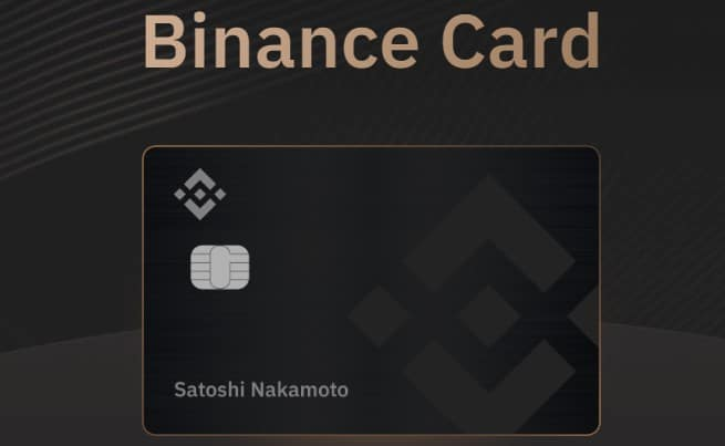 binance card visa bitcoin