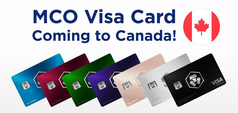 La carte bancaire Bitcoin MCO arrive au Canada