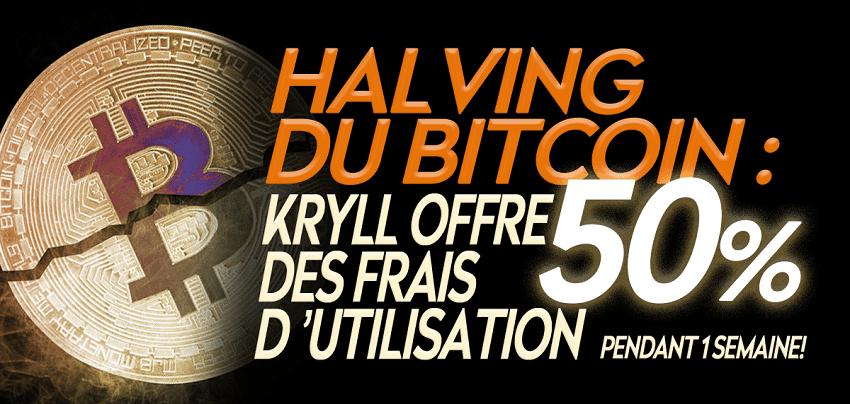 Pour fêter halving Bitcoin, Kryll offre 50% de réduction sur les frais d