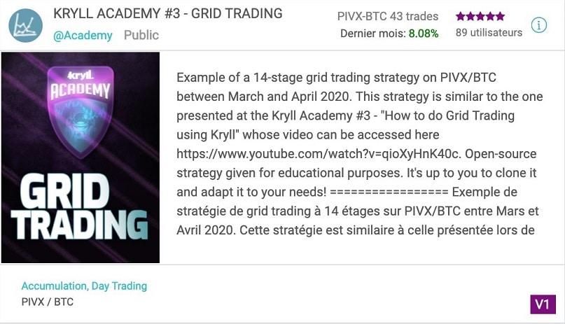 Stratégie de grid trading crypto gratuite