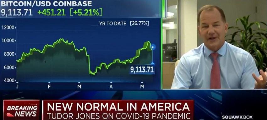 Sur CNBC, le milliardaire Paul Tudor Jones confirme combien il a investi en Bitcoin BTC