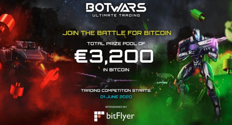 bitFlyer et Quazard organisent une compétition de trading crypto avec les robots de trading du jeu Botwars