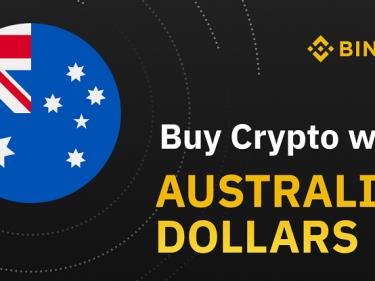 Lancement de Binance Australia qui permet d'acheter du Bitcoin BTC avec du dollar australien AUD