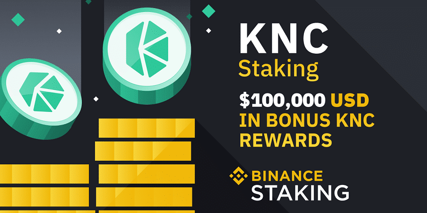 Le staking KNC (Kyber Network Cristal) disponible sur Binance