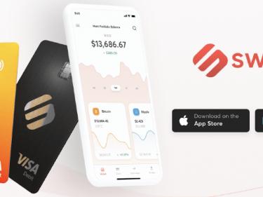Une page du site Binance confirme un partenariat avec Swipe pour lancer sa carte bancaire Bitcoin