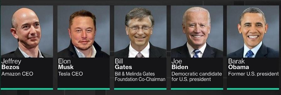 comptes twitter piratés barack obama elon musk bill gates joe biden