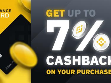 Binance annonce jusqu'à 7% de cash back sur sa carte bancaire Bitcoin en faisant du staking BNB