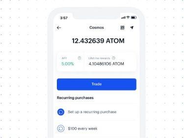 Coinbase propose 5% d'intérêts pour le staking de la crypto-monnaie Cosmos (ATOM)