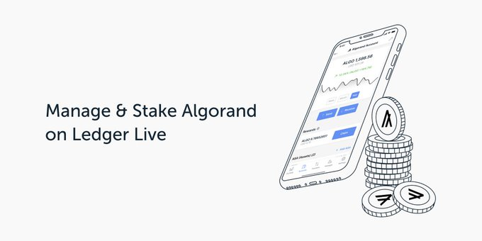 Le staking Algorand (ALGO) disponible sur Ledger Live