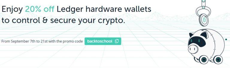 Nouvelle promotion de 20% sur les crypto wallet Ledger Nano X et Ledger Nano S