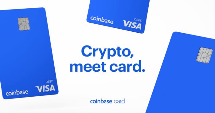 La carte bancaire Bitcoin Coinbase offre jusqu