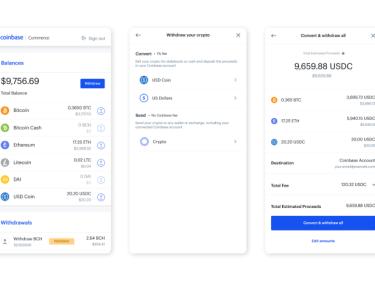 Les commerçants qui utilisent Coinbase Commerce vont pouvoir changer leurs cryptos en euro, dollar ou stablecoin directement dans l'application