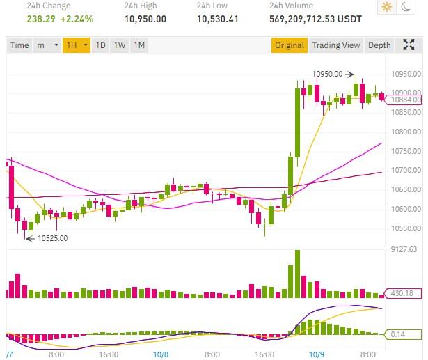 cours bitcoin rebondit