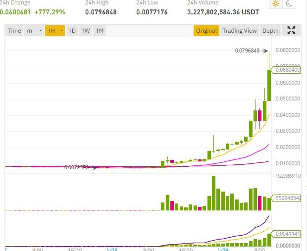 cours dogecoin 700%