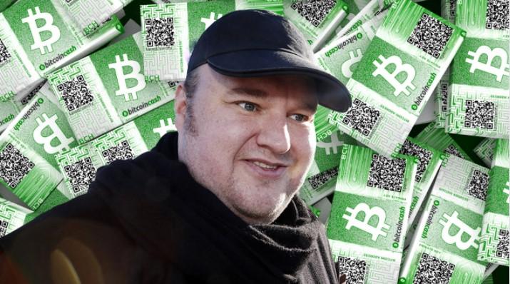 Kim Dotcom fait monter le cours Bitcoin Cash (BCH)