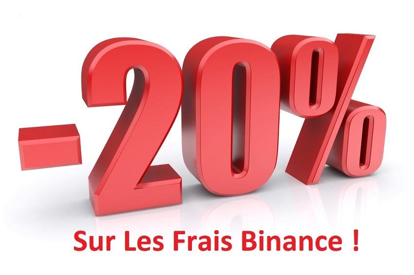 Réduction de 20% sur vos frais de transaction Binance avec notre code promo